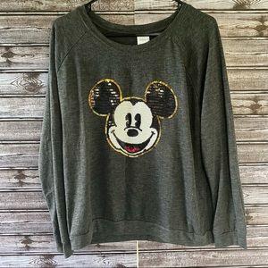 Disney Sequins Mickey Graphic Sweatshirt XL 15/17